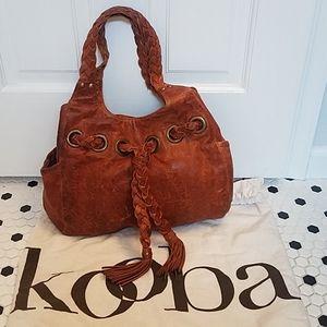 Kooba Ginger Leather Handbag Braided Straps